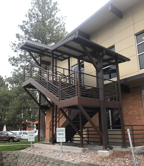 UM Forestry Lab – Covered Staircase